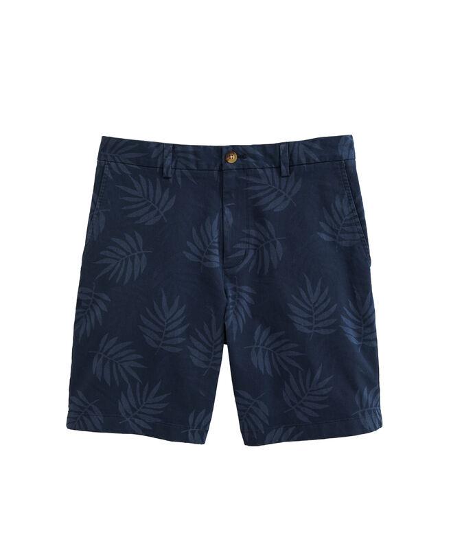 OUTLET Men's 9 Inch Tropical Leaf Stretch Breaker Shorts