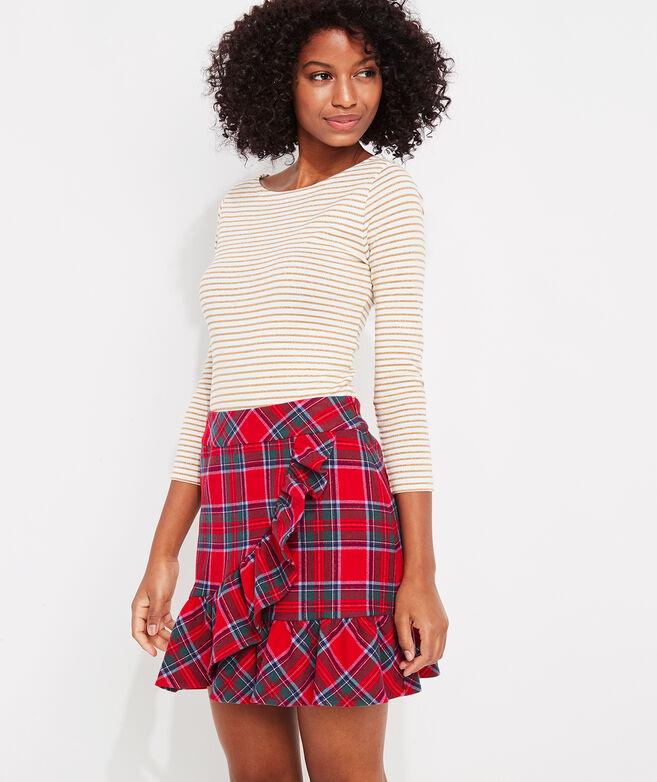Nantucket Tartan Ruffle Skirt