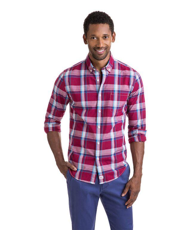 Pompano Plaid Slim Murray Shirt