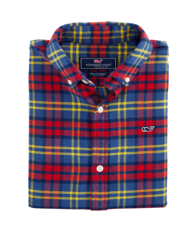 Boys Longshore Whale Button-Down Flannel Shirt