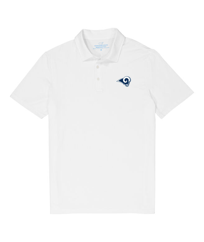 Los Angeles Rams Solid Edgartown Polo