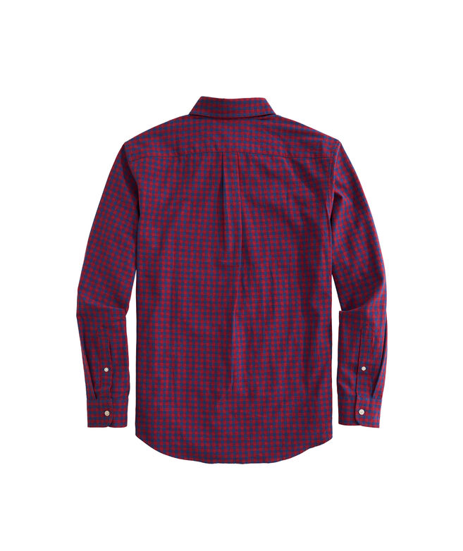 OUTLET Boys' Sycamore Check Poplin Whale Shirt