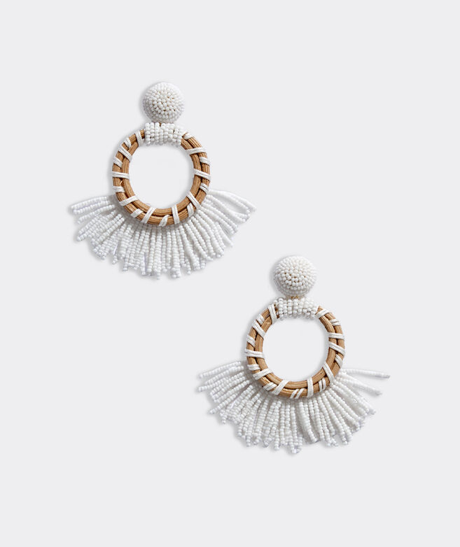 Rattan Beaded Earrings