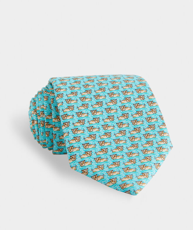 Swimming With The Pigs Printed Tie