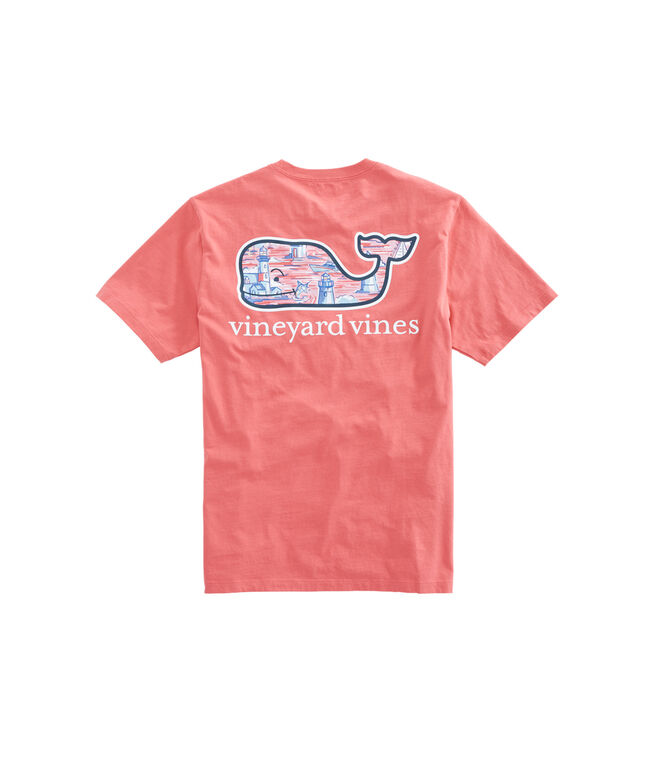 Lighthouse Whale Fill T-Shirt