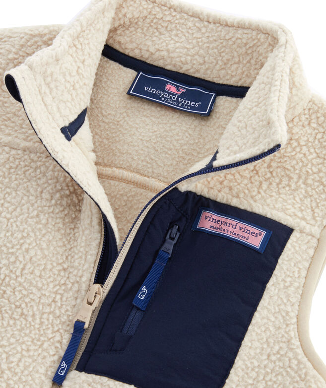 Boys Solid Sherpa Vest
