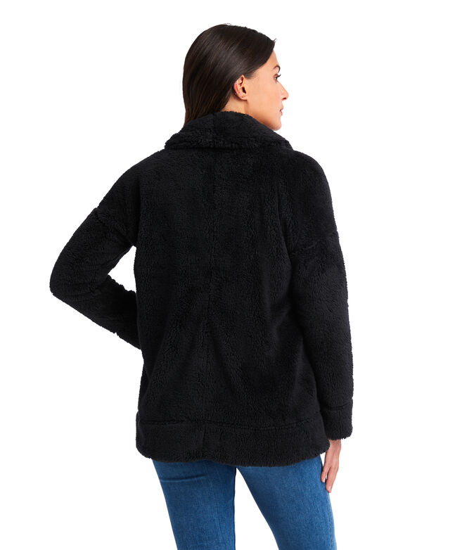 Plush Teddy Open Front Jacket
