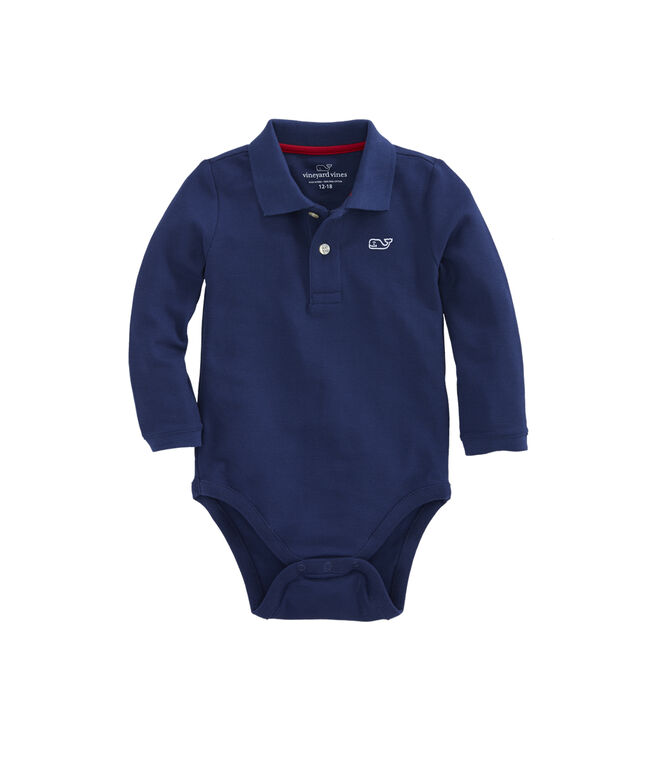 Long-Sleeve Polo Onesie