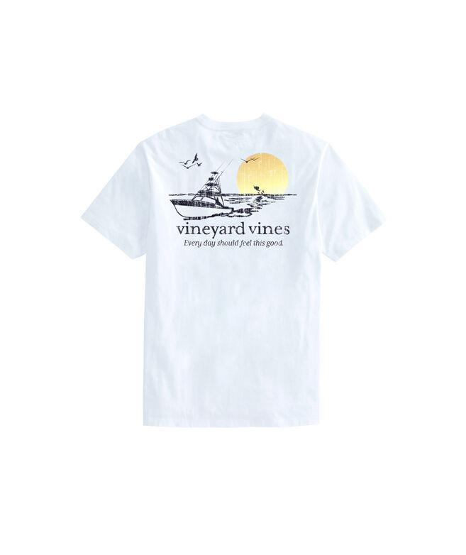 Sunset Fishing Short-Sleeve Pocket Tee
