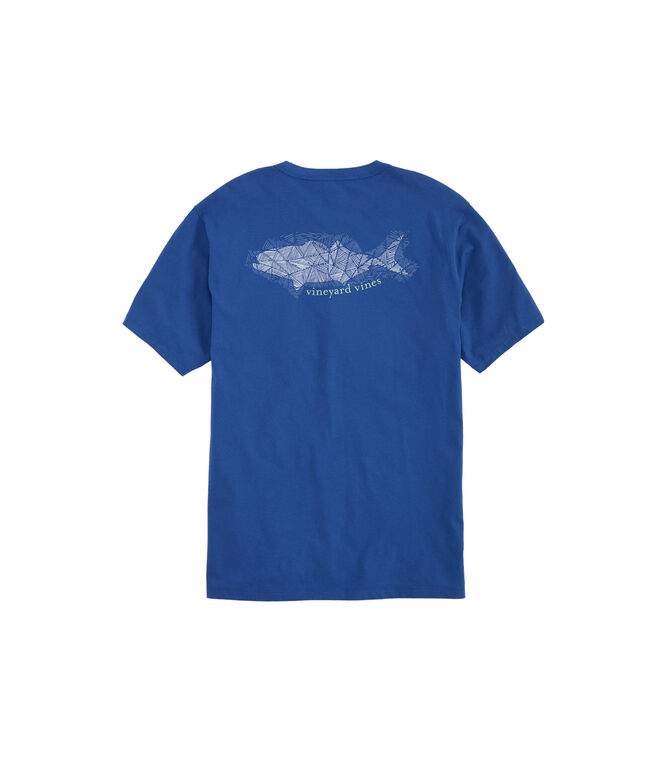 Hatched Bluefish Pocket T-Shirt