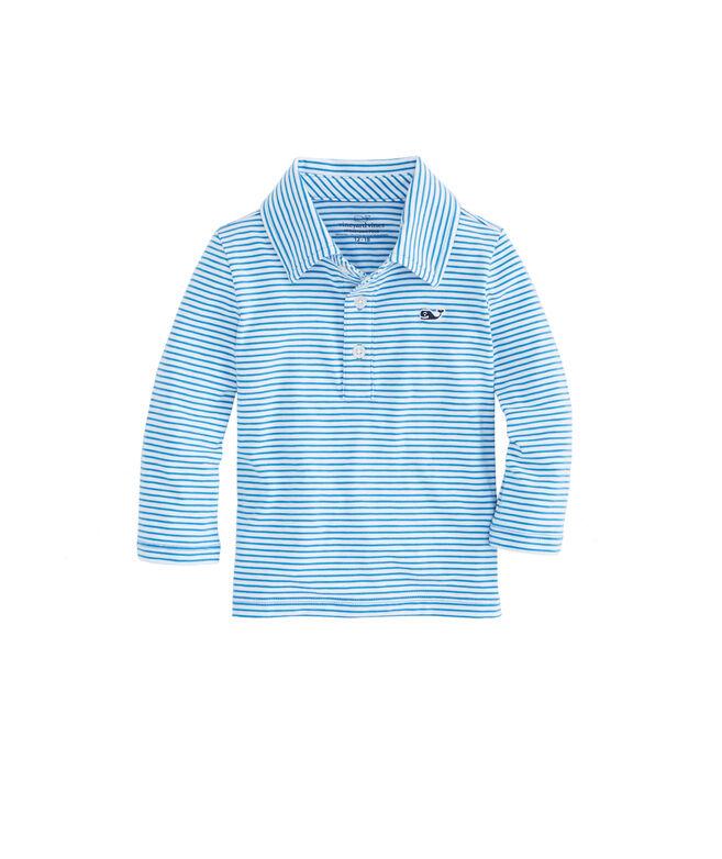 Baby Boy Long-Sleeve Shep Stripe Edgartown Polo (12-24 MO)