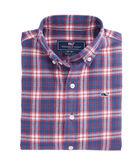 Boys Silver Peak Plaid Flannel Whale Shirt