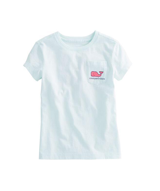 d8233b152ff3 Girls Short-Sleeve Jumbo Whale Fill Pocket Tee