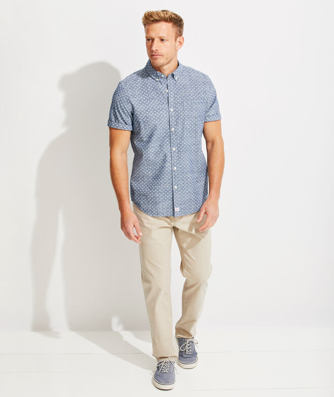 Slim Fit Finn Murray Short-Sleeve Button-Down Shirt