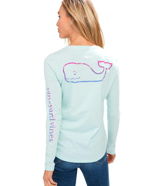 Long-Sleeve Gradient Vintage Whale Slub Tee