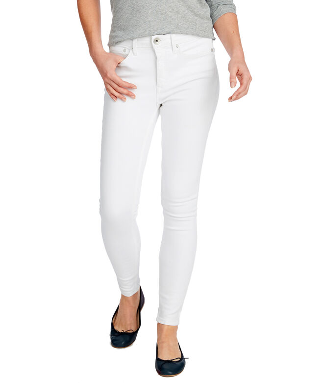 Jamie High Rise White Denim