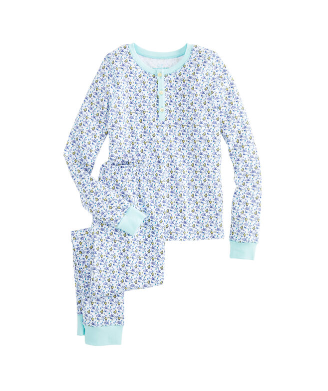 Girls Easter Bunny Whale Lounge Set