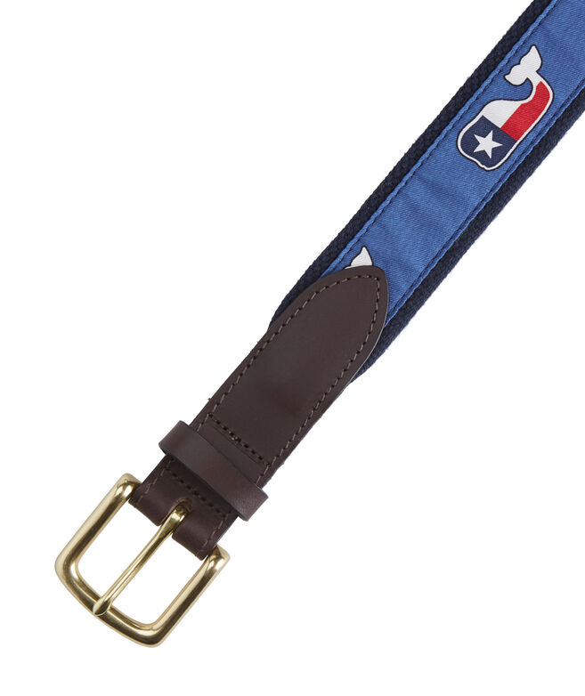 Texas Whale Canvas Club Belt