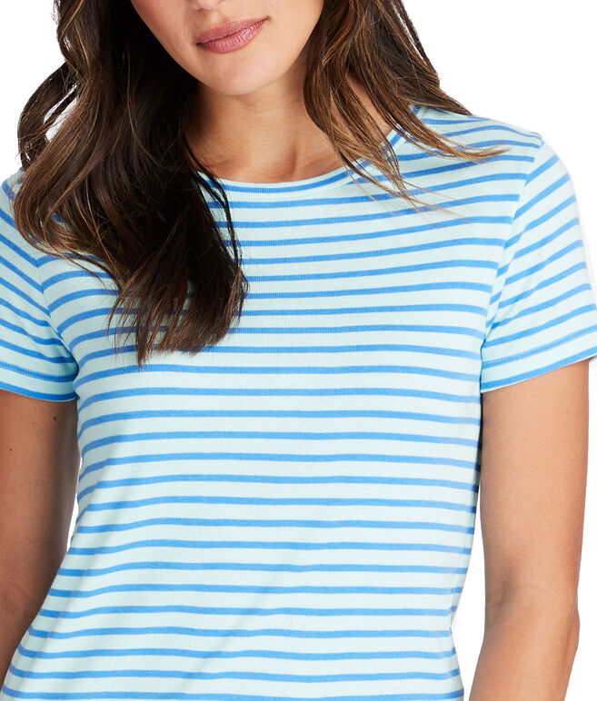 Striped Simple Crewneck Tee