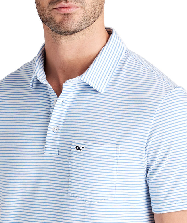 White Shep Stripe Edgartown Polo