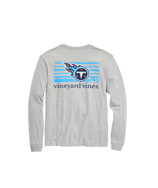 Tennessee Titans Long-Sleeve Block Stripe T-Shirt