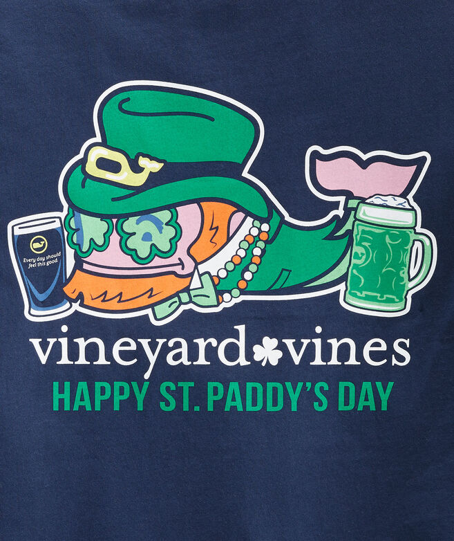 St. Paddy's Day Whale Long-Sleeve Pocket Tee