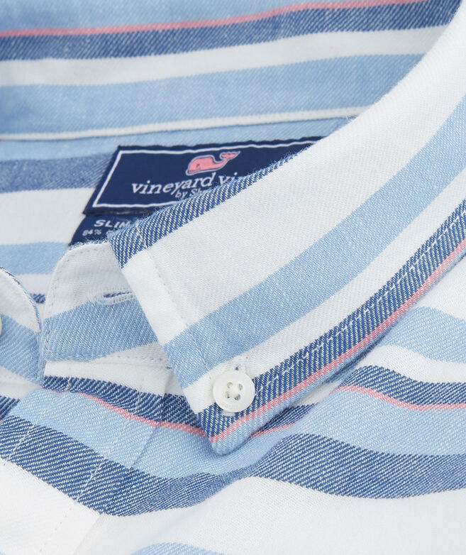 Short-Sleeve Down Harbor Beach Flannel Slim Murray Shirt
