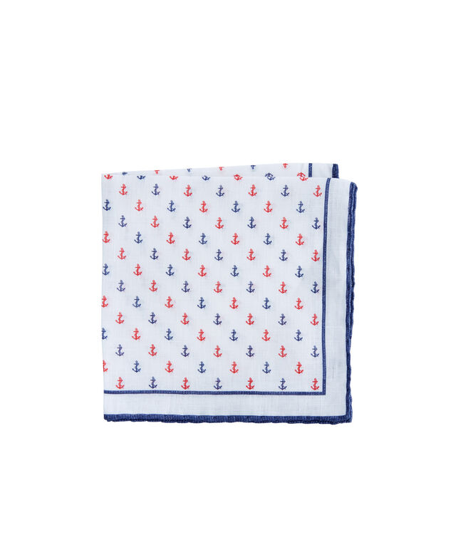 Anchor Woven Pocket Square