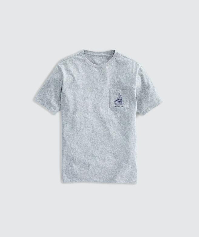 Limited-Edition USA Catboat Crew Short-Sleeve Pocket Tee