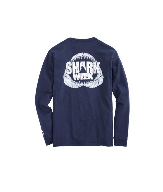 Mens Shark Week Long-Sleeve Jaws T-Shirt