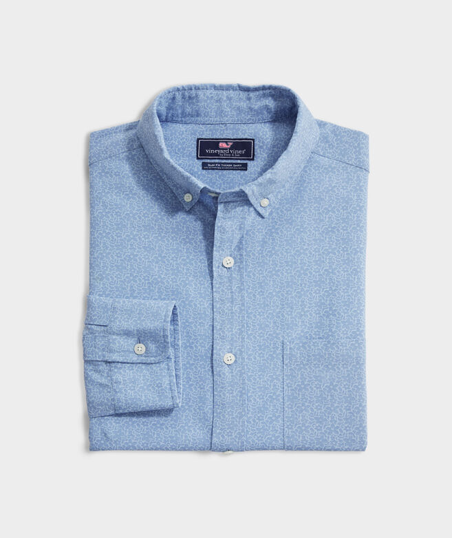 Slim Fit Brightline Tucker Button-Down Shirt