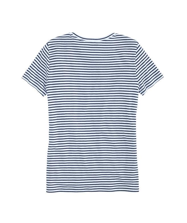 Striped Simple Crewneck Short-Sleeve Tee
