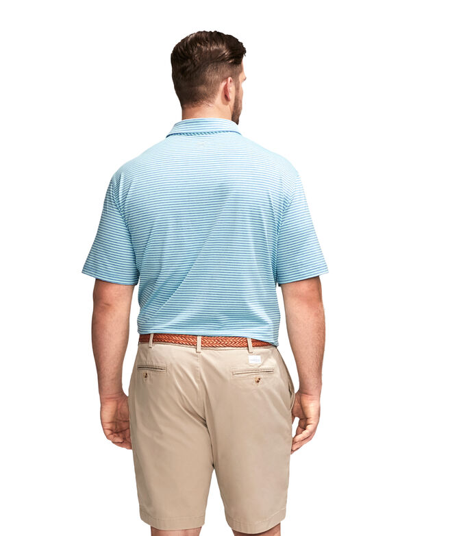 Big & Tall Heathered Kennedy Stripe Sankaty Performance Polo