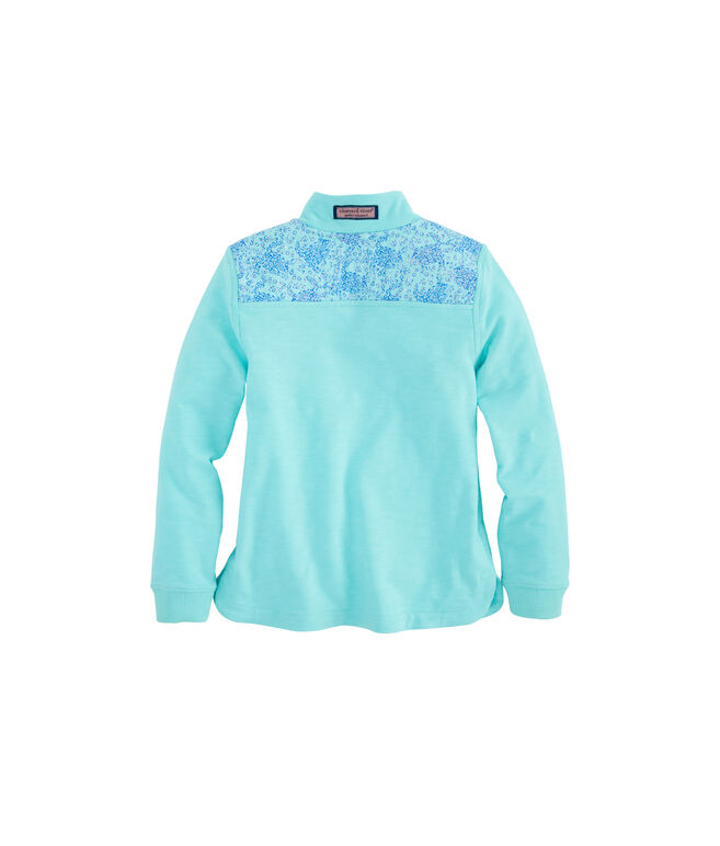 Girls Sea Turtle Print Shoulder Relaxed Shep Shirt
