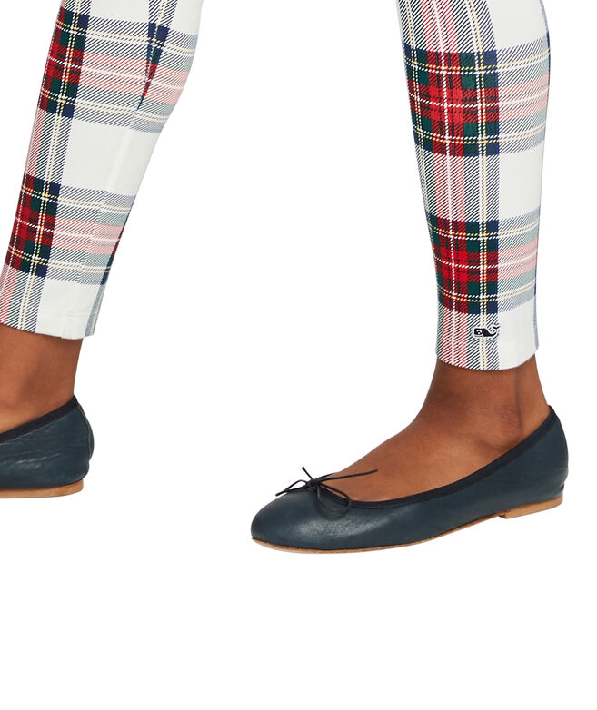 Girls Jolly Plaid High-Waisted Leggings