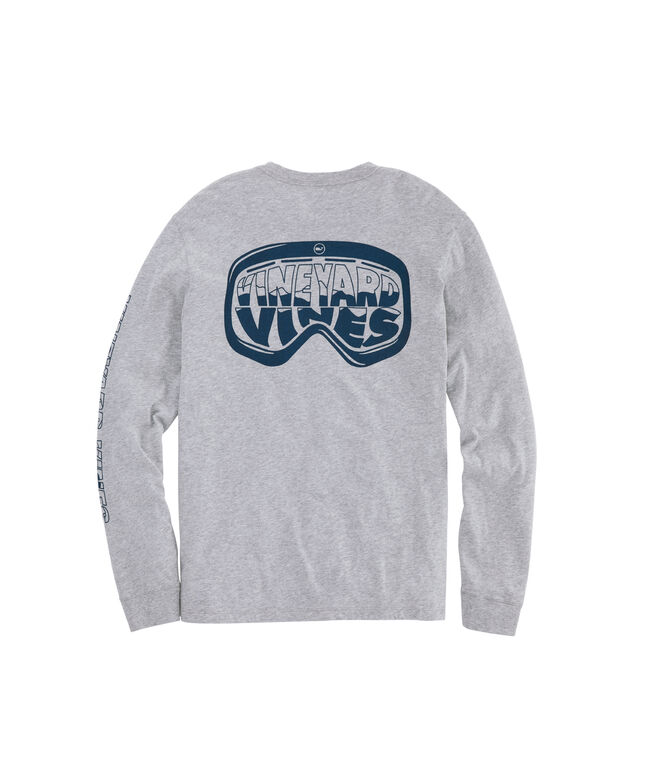 Ski Goggles Long-Sleeve Pocket Tee
