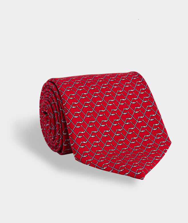 Hockey Sticks Printed Tie