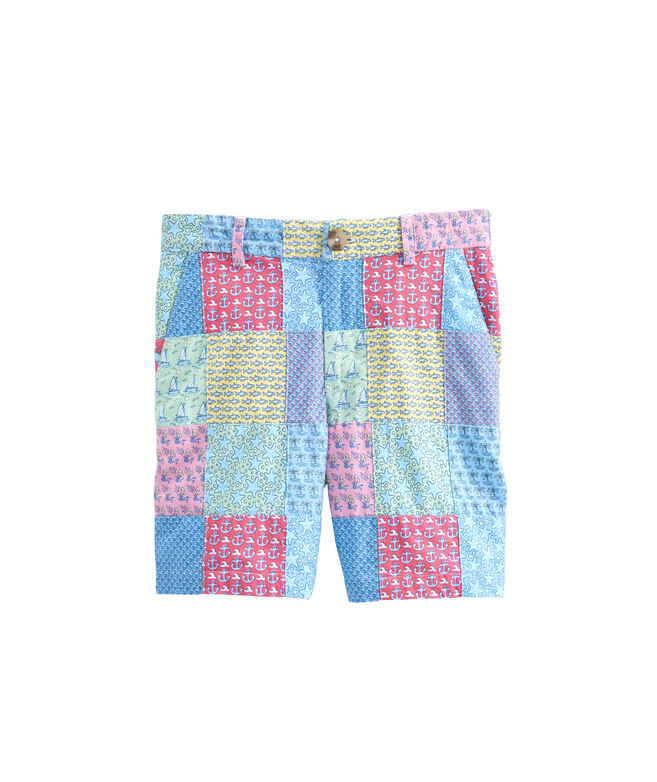 Boys vineyard vines Printed Patchwork Breaker Shorts