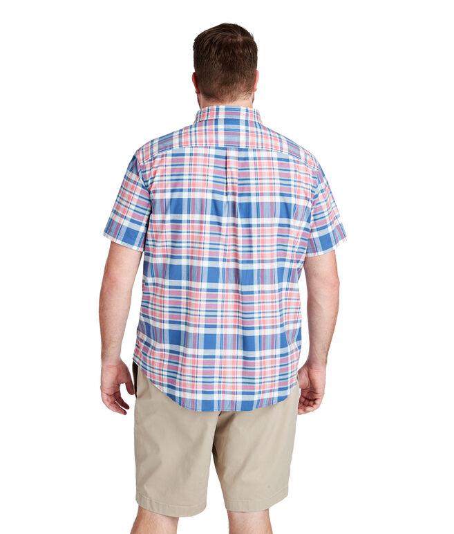 Freeport Plaid Short-Sleeve Classic Tucker Shirt