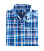 Boys Star Island Performance Flannel Whale Shirt