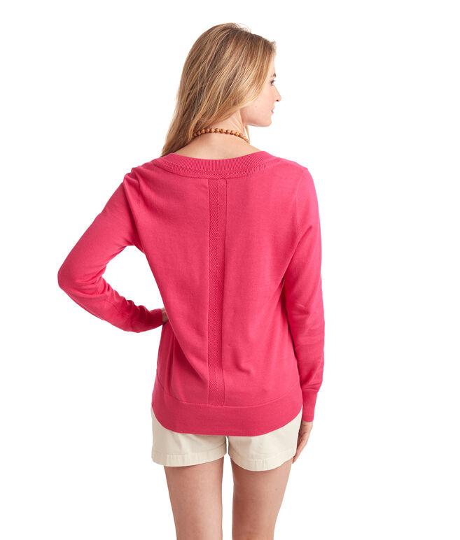 Heritage Cotton V-Neck Sweater
