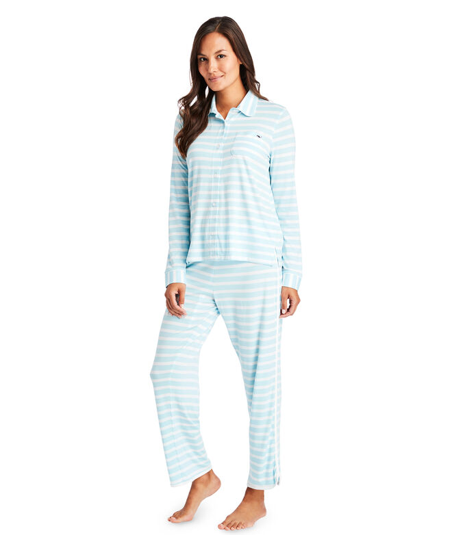 Classic Stripe Knit Pajama Set