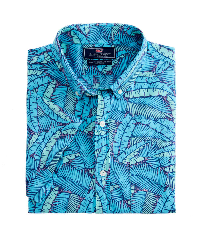 3c20308555 Slim Short-Sleeve Island Palms Murray Shirt