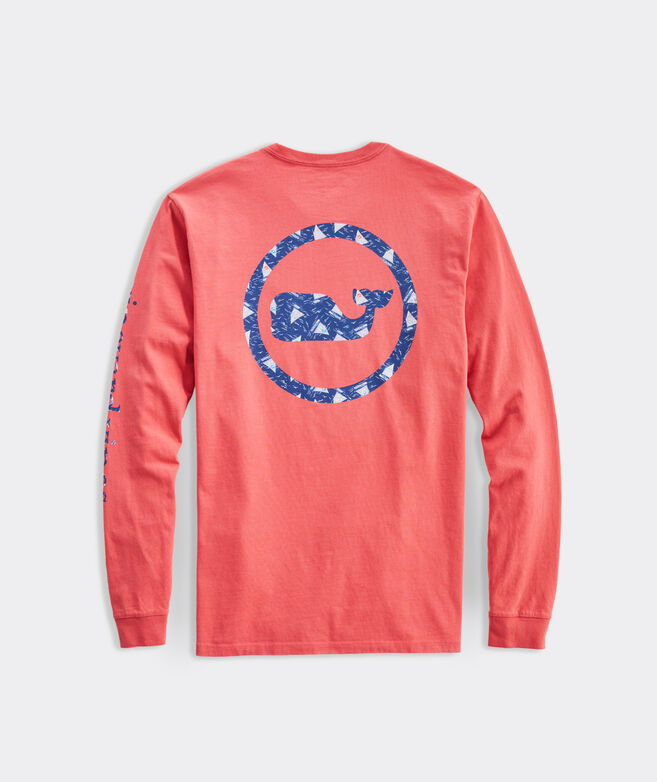 Catboats Whale Dot Long-Sleeve Pocket Tee