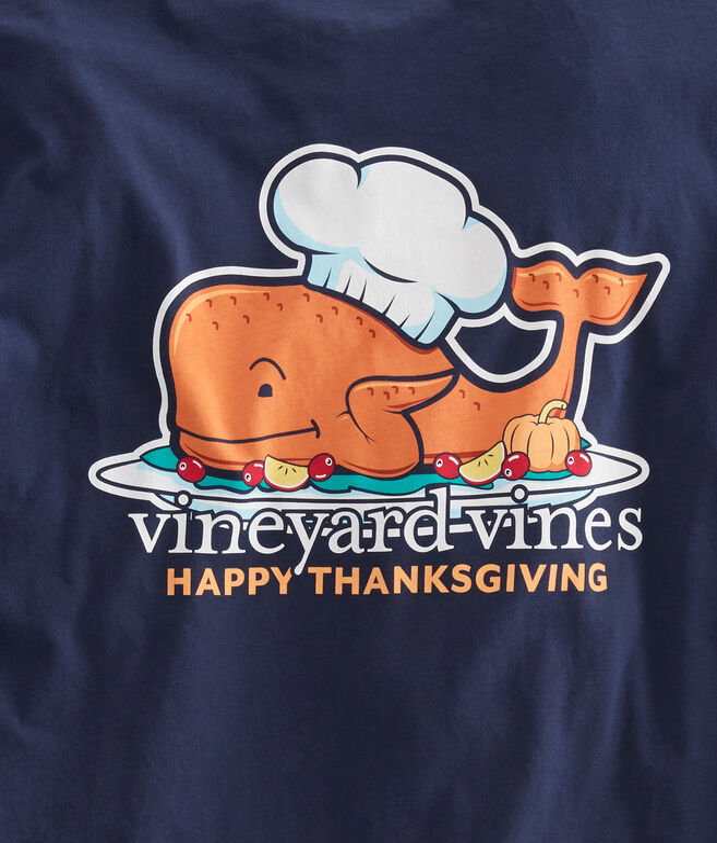 Long-Sleeve Thanksgiving Turkey Pocket T-Shirt