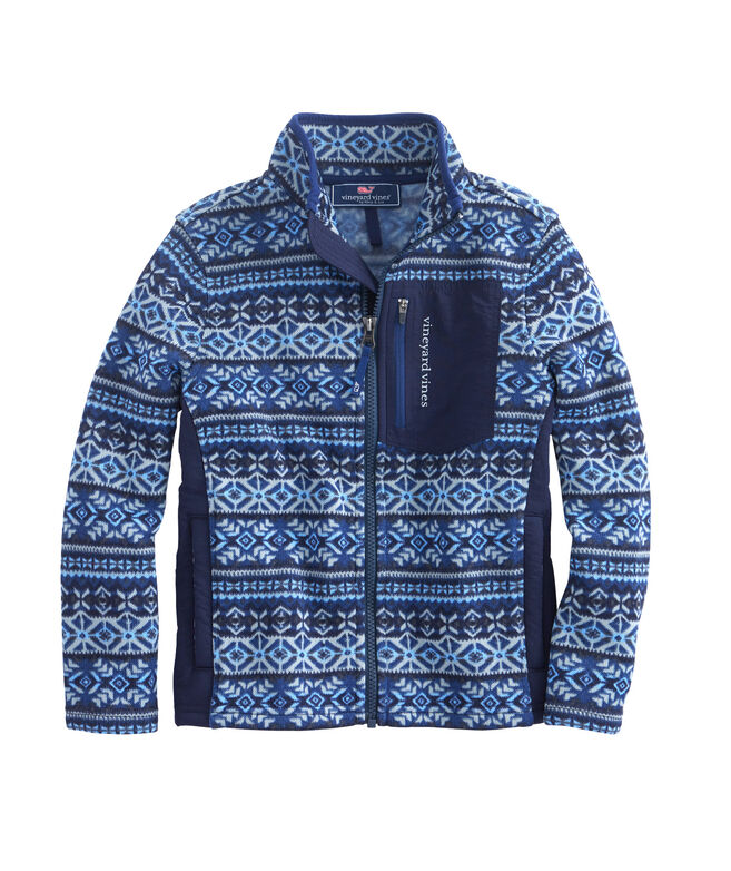 Shop Boys Fair Isle Sweater Fleece at vineyard vines