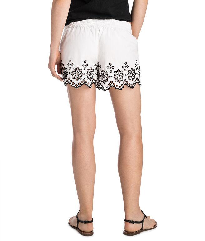 Scallop Hem Pull On Shorts