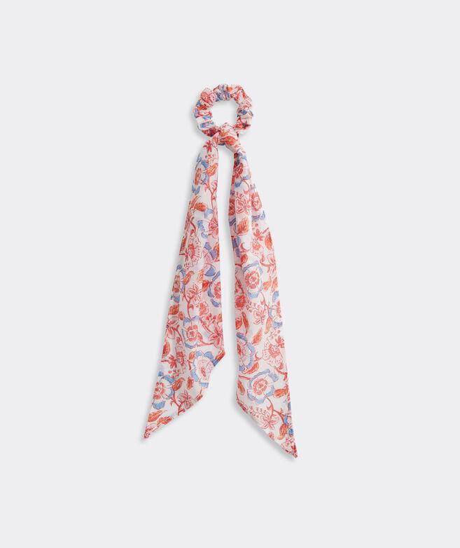 Frangipani Floral Long Tail Scrunchie