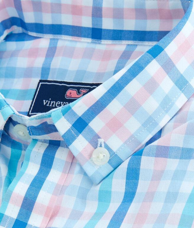 Boys Atala Tattersall Tartan Whale Shirt