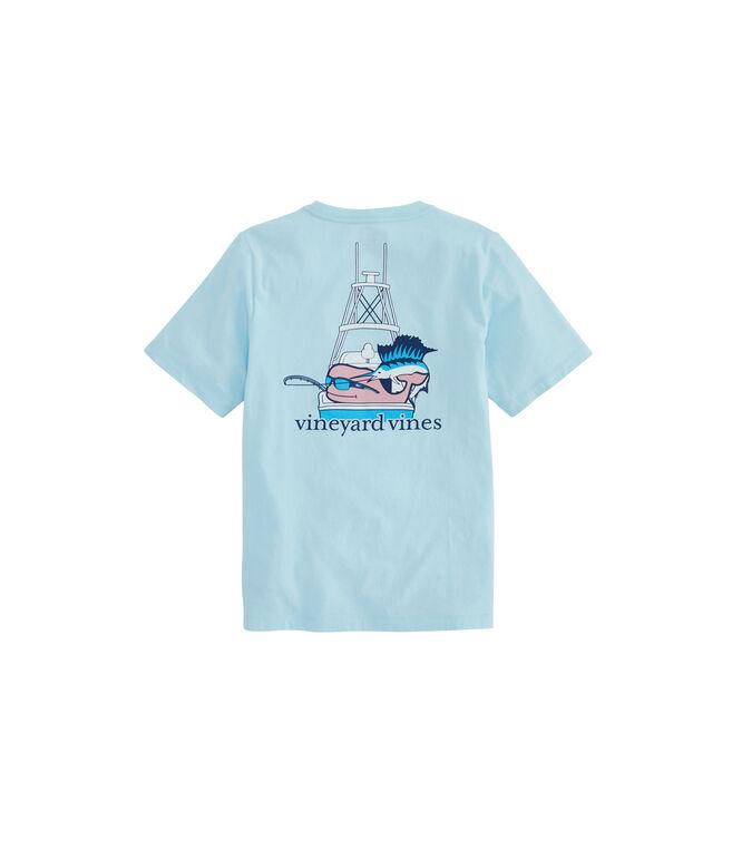 Boys Sportfisher Whale Pocket T-Shirt